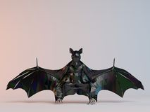 3D black low poly (bat) Stock Photography