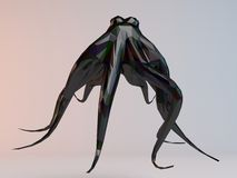 3D black low poly (octopus) Stock Photography