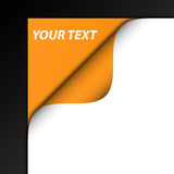 3D black and orange background. Black and white background highlighting an artistic, 3D orange corner Royalty Free Stock Photos