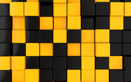 3d black and orange cubes background Royalty Free Stock Image