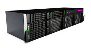 3d black server on a white background Royalty Free Stock Photo