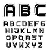 3D black simple font alphabet letters Royalty Free Stock Images