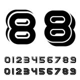 3D black simple numbers font. Illustration for the web Stock Image