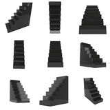 3D Black Stairs set Stock Image