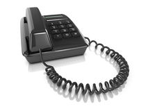 3d Black telephone. 3d render of a black telephone Stock Images