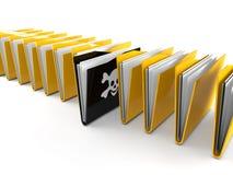 3d black virus folder Royalty Free Stock Image
