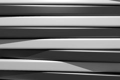 3d black and white bars. 3d rendering of an abstract composition with a lot of black and white bars Royalty Free Stock Photos