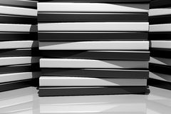 3d black and white bars. 3d rendering of an abstract composition with a lot of black and white bars Royalty Free Stock Image