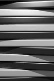 3d black and white bars. 3d rendering of an abstract composition with a lot of black and white bars Stock Photos