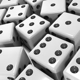 3d Black and white dice. 3d render of black and white dice Royalty Free Stock Image