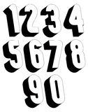3d black and white numbers. Royalty Free Stock Photo