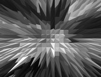 3D Black and white Spiky pyramid with Bird eyes view. Stock Photos