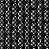 3D black and white stripes with pixel art creative texture. Cool 3D stripes black and white pattern with pixel art and modern geometric texture for creative royalty free illustration