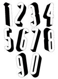 3d black and white tall numbers. Royalty Free Stock Images