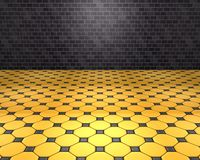 D black and yellow room Royalty Free Stock Photos