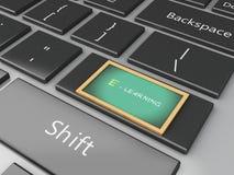 3d Blackboard on computer keyboard. Stock Images