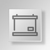 3D blackboard icon Business Concept. 3D Symbol Gray Square blackboard icon Business Concept Royalty Free Stock Images