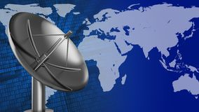 3d blank. Abstract 3d binary background with sat antenna and earth Stock Images
