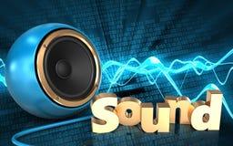3d blank blue sound speaker Royalty Free Stock Image