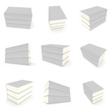 3D blank books cover over white background Royalty Free Stock Photos