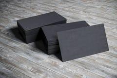 3d blank business card. S pile Stock Photos