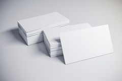 3d blank business card Royalty Free Stock Image