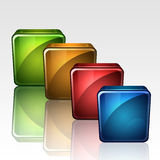 3D Blank Buttons Stock Image
