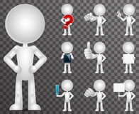 3d blank character cartoon empty  icons set render design vector illustration. 3d blank character cartoon empty  set icons render design vector illustration Royalty Free Stock Image
