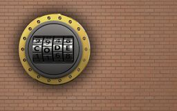 3d blank code dial Stock Photo