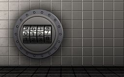 3d blank code dial Stock Images