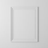 3d blank frame poster. On white wall Royalty Free Stock Photos