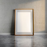 3d blank frame and vintage wall. 3d blank frame and vintage brick wall Stock Images