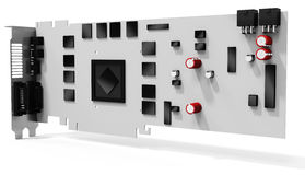 3d blank generic graphic video card. On white background Stock Images