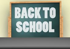 3d blank. 3d illustration of board with back to school text and Royalty Free Stock Photography