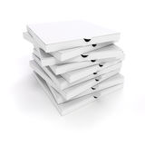 3d blank packing boxes for pizza. On white background Royalty Free Stock Photos
