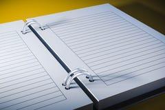 3d blank personal agenda Royalty Free Stock Photos