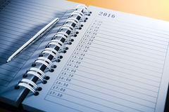 3d blank personal agenda Royalty Free Stock Photography
