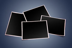 3d blank photo frames Stock Photography