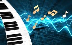 3d blank piano keyboard Stock Photos