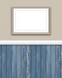 3D blank picture frame on a grunge wall. 3D render of a blank picture frame on a grunge wall Stock Photo