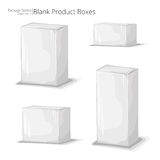 3D blank product boxes. 3D blank plain white product boxes Royalty Free Stock Images