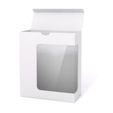 3d blank product package box. On white Stock Photography