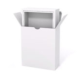 3d blank product package box. On white Royalty Free Stock Images