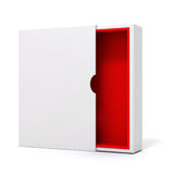 3d blank product package box. On white Stock Image