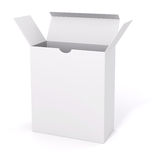 3d blank product package box. On white Royalty Free Stock Photo