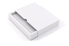 3d blank product package box. On white Stock Photo
