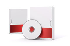 3d blank product package box. On white Stock Images