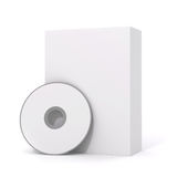 3d blank product package box. On white Stock Photos