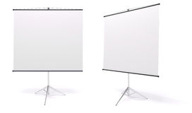 3d blank roll up. On white background Royalty Free Stock Images