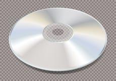 3D blank white CD trans Royalty Free Stock Photo